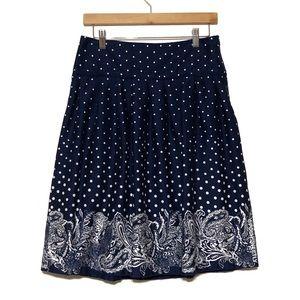 Sharagano Printed Full Skirt